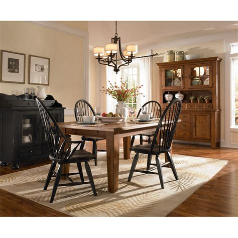 rectangular leg dining table oak stain 5397 42s