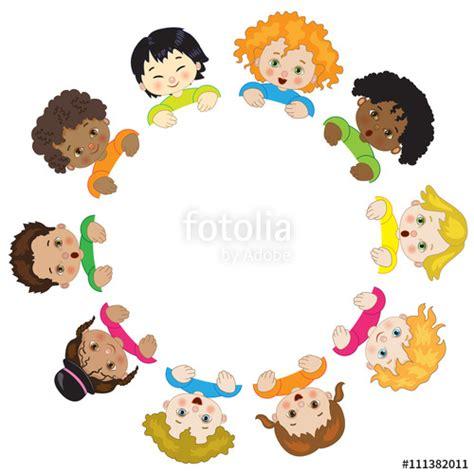 immagini clipart bambini quot bambini in cerchio su sfondo bianco quot immagini e