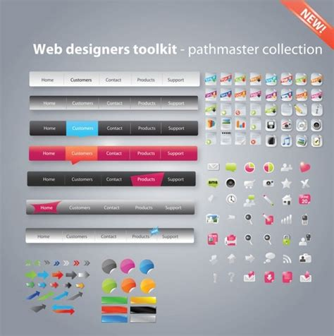 html design tool free download useful web design tools pack 02 vector free vector in