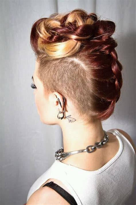 shaved sided braided mohawk search results for shaved back braided updo black