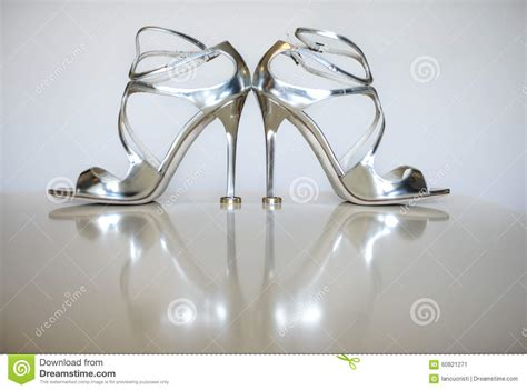 Concept Wedding Shoes by Wedding Concept With Silver Shoes High Heels Wedding