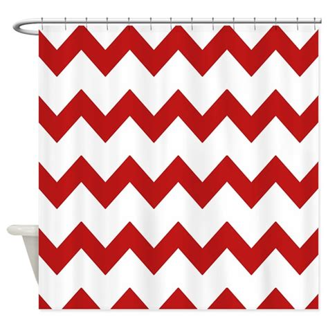 red white shower curtain red white chevrons shower curtain by printedlittletreasures