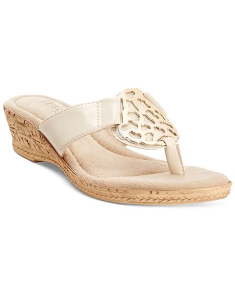 bone colored sandals easy tuscany by rossano wedge sandals in