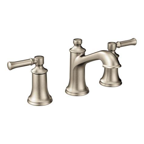 moen kitchen sink faucets moen t6805bn dartmoor two handle low arc bathroom faucet brushed nickel