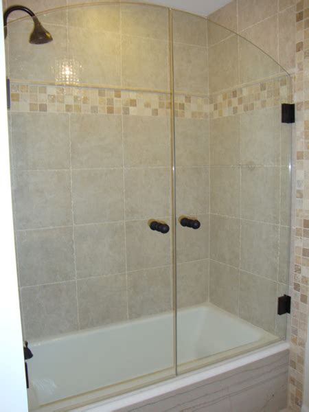 bathtub with shower doors tub shower doors tc glass
