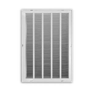 truaire 20 in x 25 in white return air filter grille