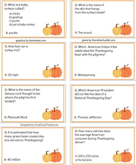 printable quiz cards free printable thanksgiving dinner trivia the mother