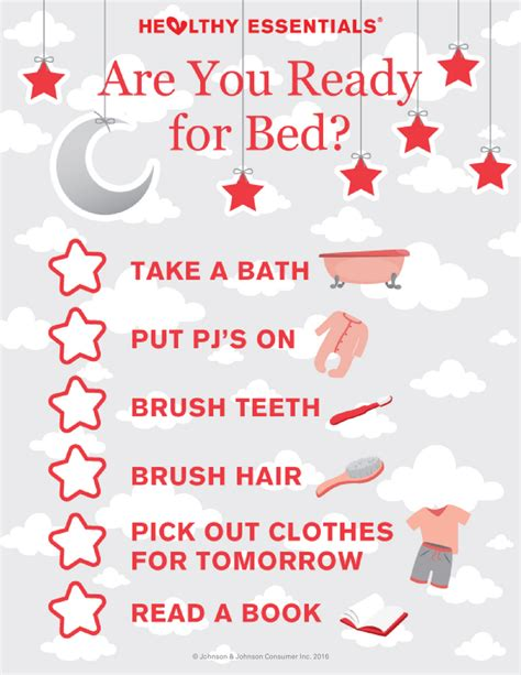 how to get ready for bed bedtime routine checklist healthy essentials 174