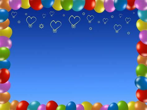 happy birthday balloons backgrounds for ppt templates
