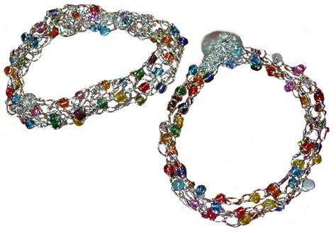 crochet bracelet with pattern crocheted wire bracelet by live knit craftsy
