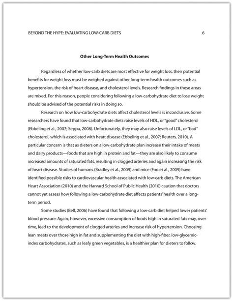 mla format essay body paragraph developing a final draft of a research paper