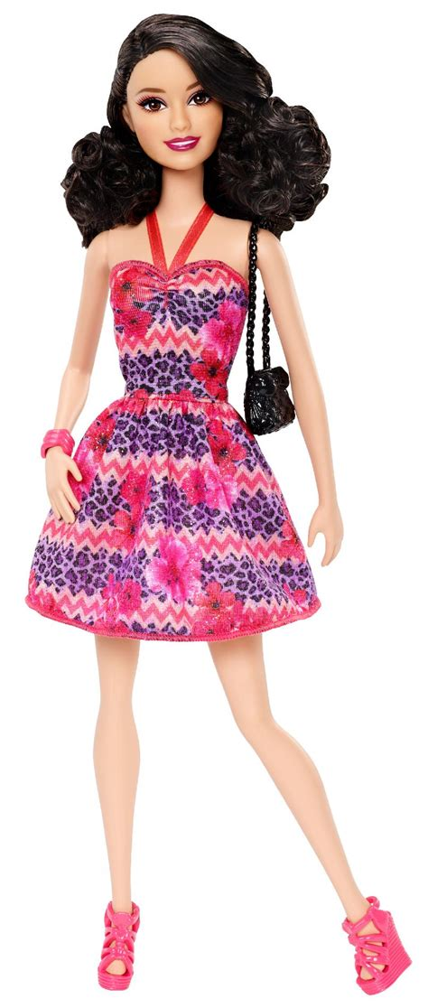 Le Fashionistacom Designer Weekly Pink fashionista 174 raquelle doll pink and purple dress by