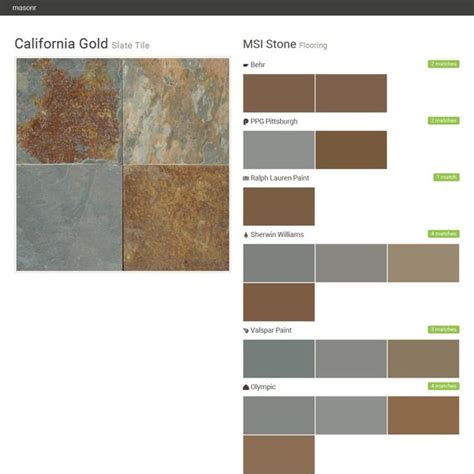california gold slate tile flooring msi behr ppg pittsburgh ralph paint