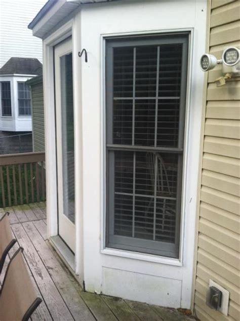 exterior doors bay area rotting wood bay window door area doityourself