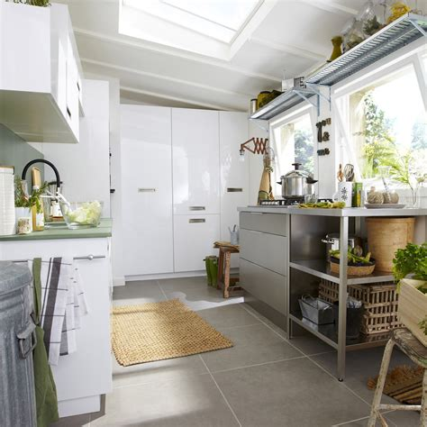 groupe de cuisine meuble de cuisine blanc delinia play leroy merlin