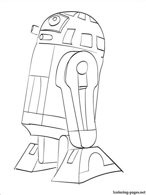 Free Coloring Pages Of R2 C3po C3po Coloring Page