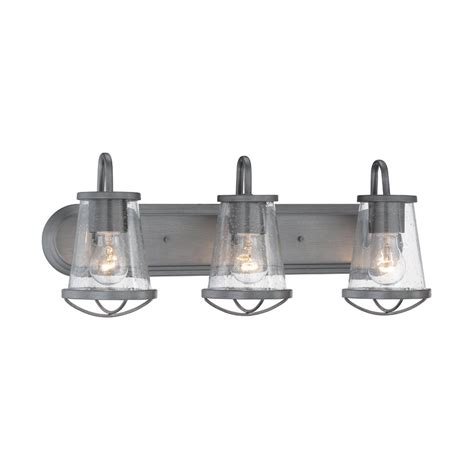 home depot bathroom light bars designers fountain darby 3 light weathered iron bath bar