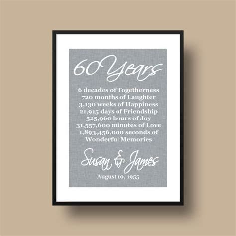 60th Wedding Anniversary Ideas On by 60th Anniversary Gift Anniversary By