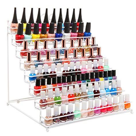 metal nail polish rack 8 tier scrollwork white metal nail polish rack makeup