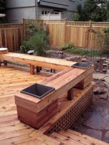 deck planter bench bench for deck i like the planters built in backyards