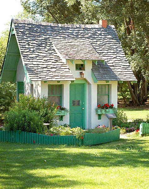 sheds and playhouses tiny green cabins our favorite shed makeovers from backyards across the world