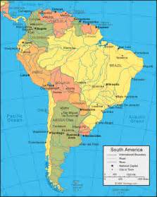 physical map of south america south america political
