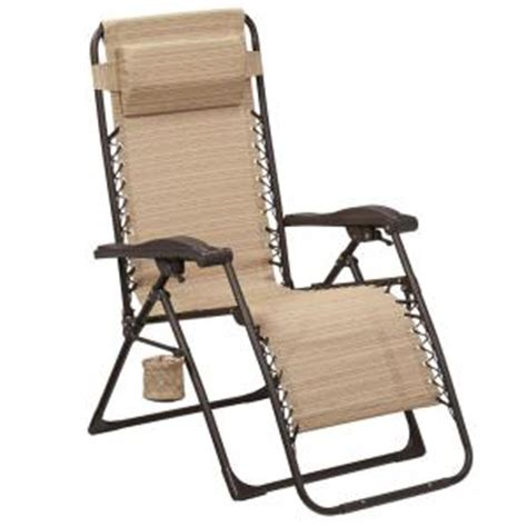 home depot chaise lounge chairs hton bay mix and match zero gravity sling outdoor