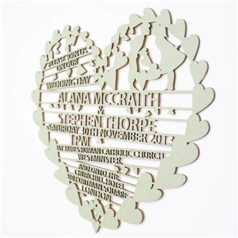 wedding invitations with hearts hearts laser cut wedding invitation by salts cards