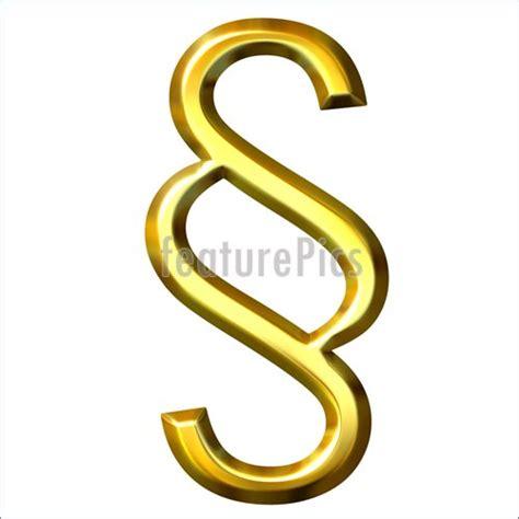 section symbol 3d golden section sign illustration