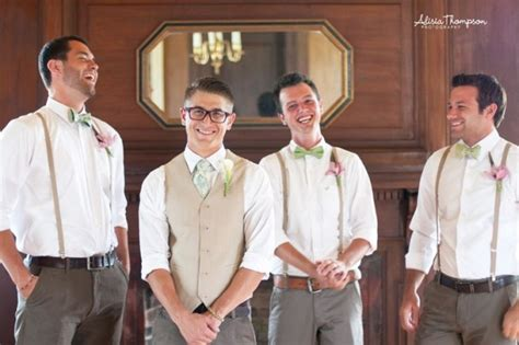 mens wedding attire with suspenders groomsmen attire suspenders