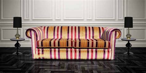 striped velvet sofa buy stripe fabric chesterfield sofa uk designersofas4u