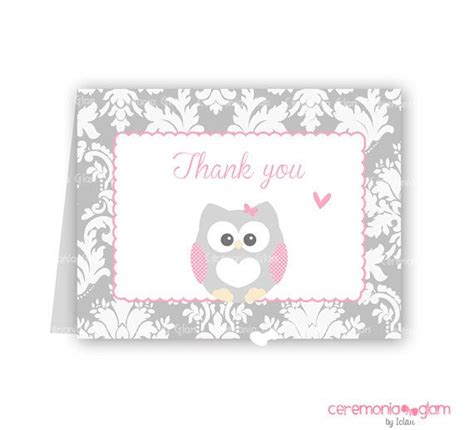 printable owl thank you cards 7 best images of printable owl thank you cards printable