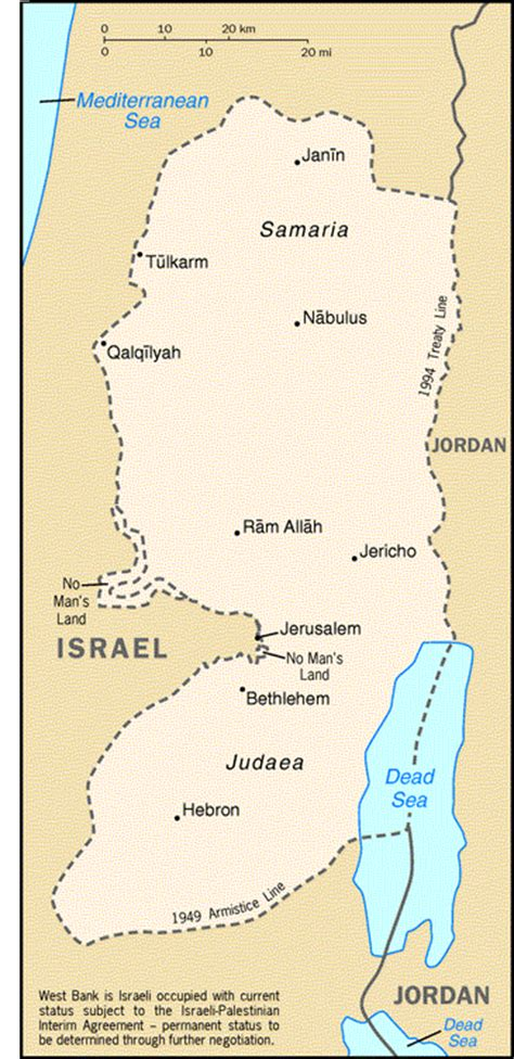 is west bank part of israel the west bank basic information