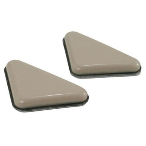 shepherd 3 8 in x 2 in triangle furniture glides 4 per
