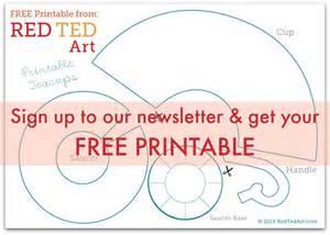 Free printable teacup pattern red ted art s blog