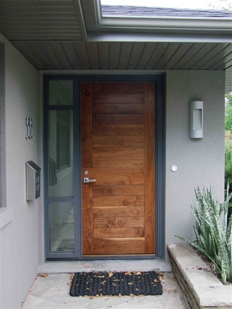 contemporary front entrance doors creed 70 s bungalow makes a modern impression
