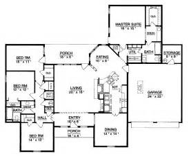 superb single level home plans 6 one level house plan