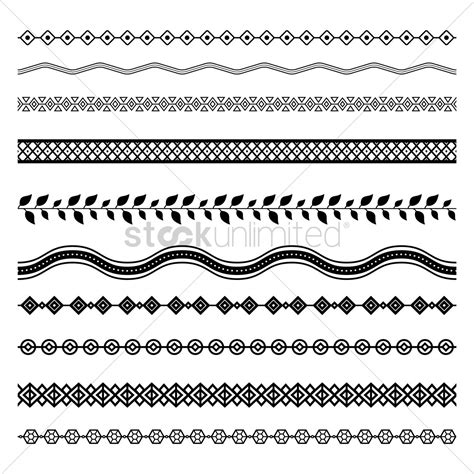 pattern line border set of abstract border designs vector image 1986807