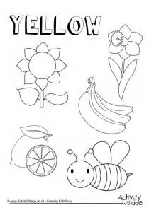 coloring pages for yellow yellow things colouring page