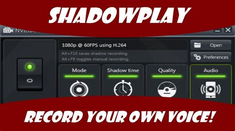 How To View Your Own Criminal Record Shadowplay How To Record Your Own Voice