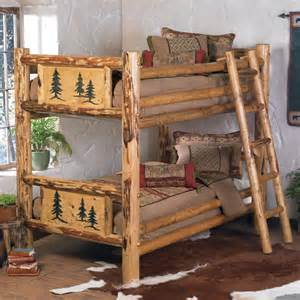 Frame country western cabin log wood bedroom furniture decor ebay