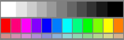 color test grayscale color chart