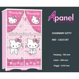 lemari anak hello kitty blh k7002 kea panel, harga termurah!