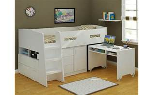 Bunk Bed Loft With Desk Jupiter Loft Bunk Bed With Desk And Tallboys Bedworks