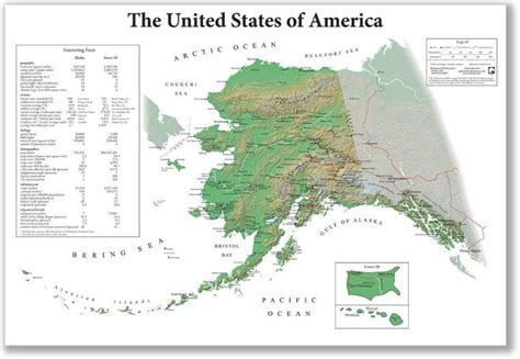 map of the united states including alaska the united states of america from alaska s point of view