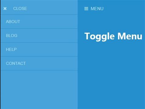jquery toggle div lightweight push menu with jquery and css3 toggle menu