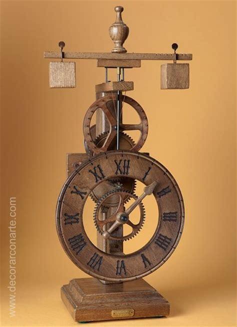 Venetian Home Decor 15th Century Clock Wood Desktop Model 41x20cm Objects Art