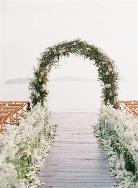 Wedding Aisle Lined With Flowers by 30 Summer Wedding Arches And Backdrops Weddingomania