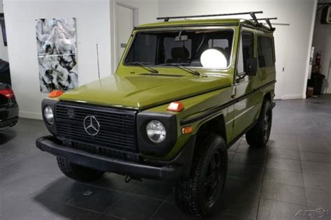 mercedes g wagon green mercedes g class suv 1980 green for sale