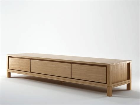 sideboard 2 50 m solid wooden tv cabinet by karpenter design hugues revuelta